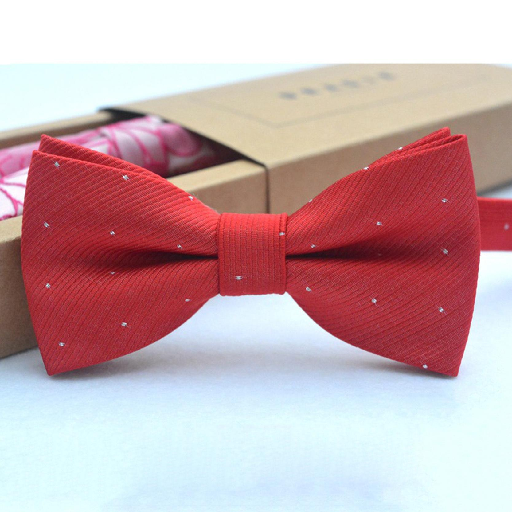 Brand new fashion popular butterfly gravata party bowtie wedding bow tie for boys girls candy color dot pattern bowknot D19011004