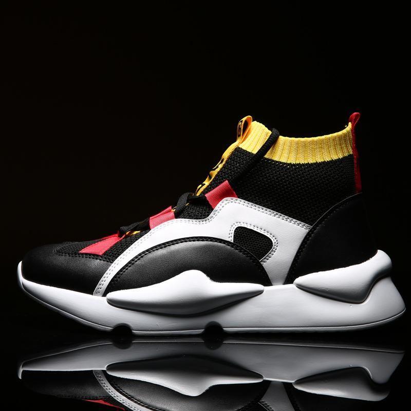Boots Men Sock Shoes Mens Casual Shoes Winter Brand Sneakers High Top Men Fashion Comfortatble Man Footwear Drop Shipping