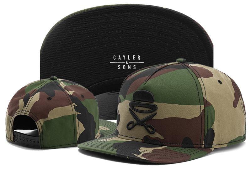 Cayler Sons Camo Baseball Caps 2020 été fille os lettre de broderie pour les femmes des hommes casquette casquette Snapback Chapeaux