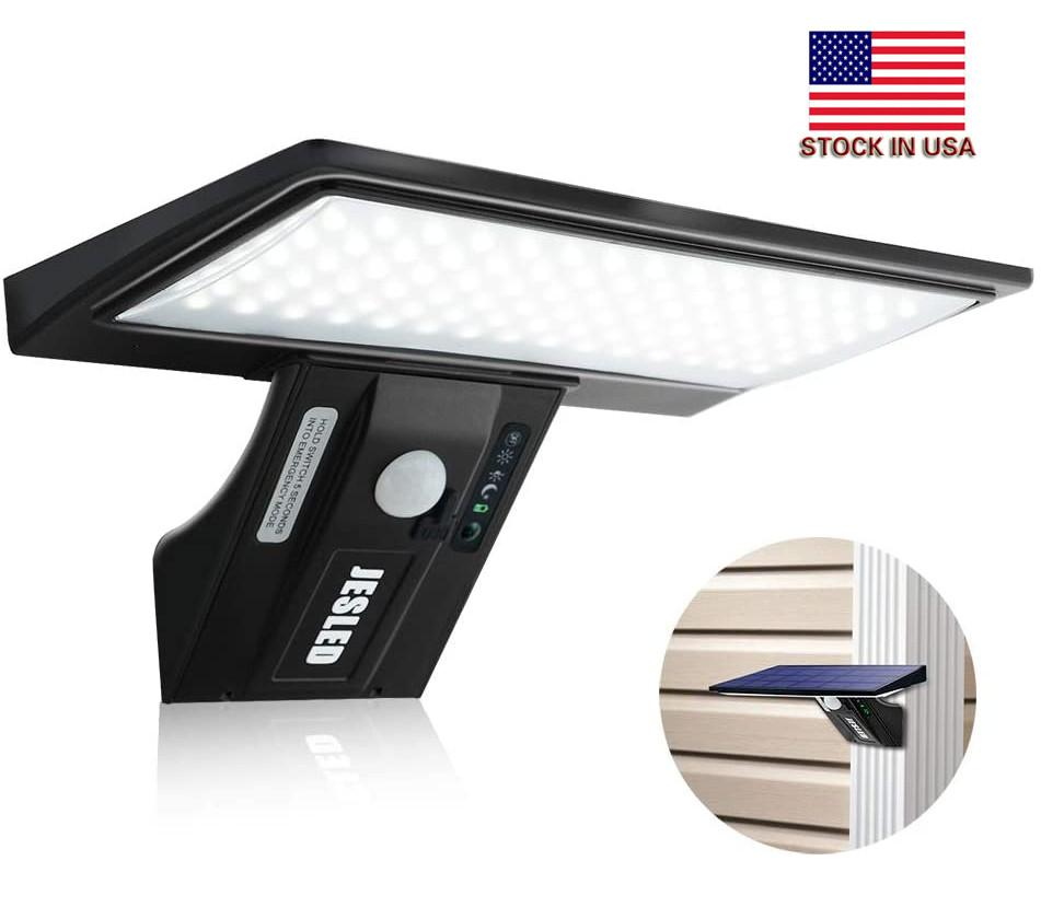 Stock In USA + 90 LEDs Solar Flood light, Outdoor Security Wall Lights Controlled Solar Spotlight for Garden, Patio, Yard, Pool, Garage