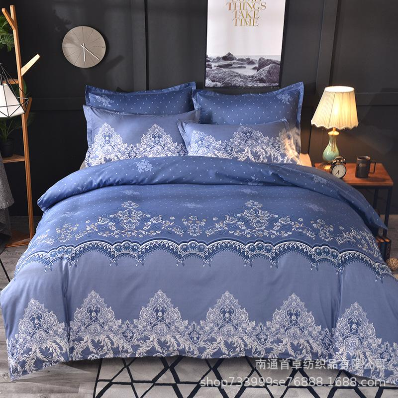 Accueil Textile Lace Set solide Literie couleur housse de couette lit Linge de lit européen Couverture avec Pillowcases