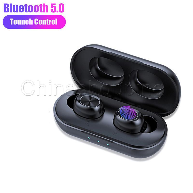 Double ear Bluetooth Wireless Earphone TWS Twins Wireless Earbud With Charger Dock V5.0 Stereo Headphone For Smart Phone