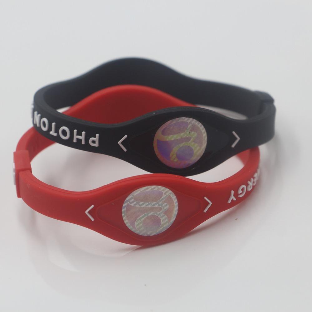 24X gute qualit Gesundheitsschutz Gummi Balance Armband Silikon Power Armreif Photonenenergie Armband