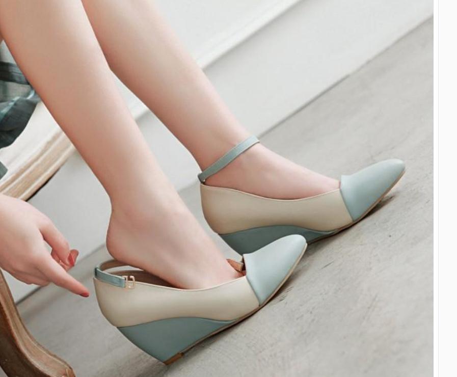 2020 весна и осень с новым стилем моды наклон каблук заостренный конец Женская обувь@MQWBH713