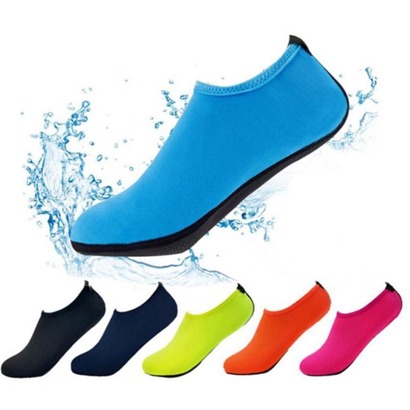 Masculina hombres playa zapatos zapatos Surf playa de buceo natación zapatos del zapato de buceo zapatillas de moda tejido elástico de natación Hombre A0
