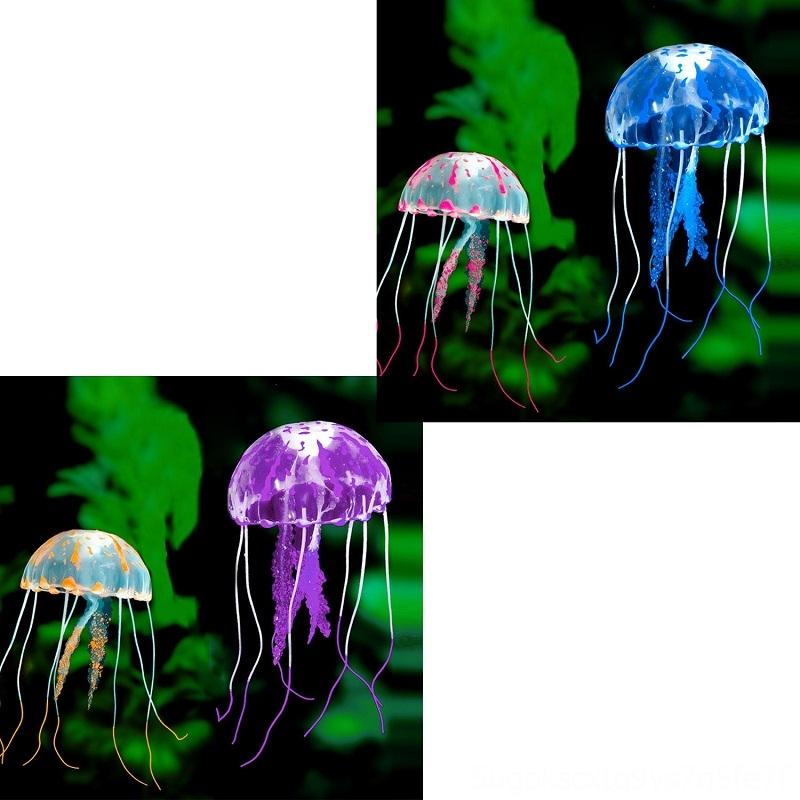 Swim Aquariums & Fish Pet Supplies Glowing Effect Artificial Jellyfish Aquarium Decoration Fish Tank Underwater Live Plant Luminous Ornament
