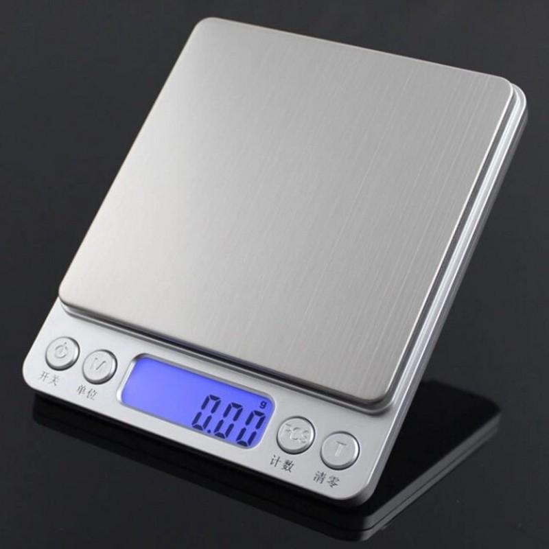 Venda quente de aço inoxidável de alta precisão Tea eletrônico Jóias Balança de cozinha Gram Pesando 0,01 g 0.1gI Mini Scale Cozinhar Ferramentas