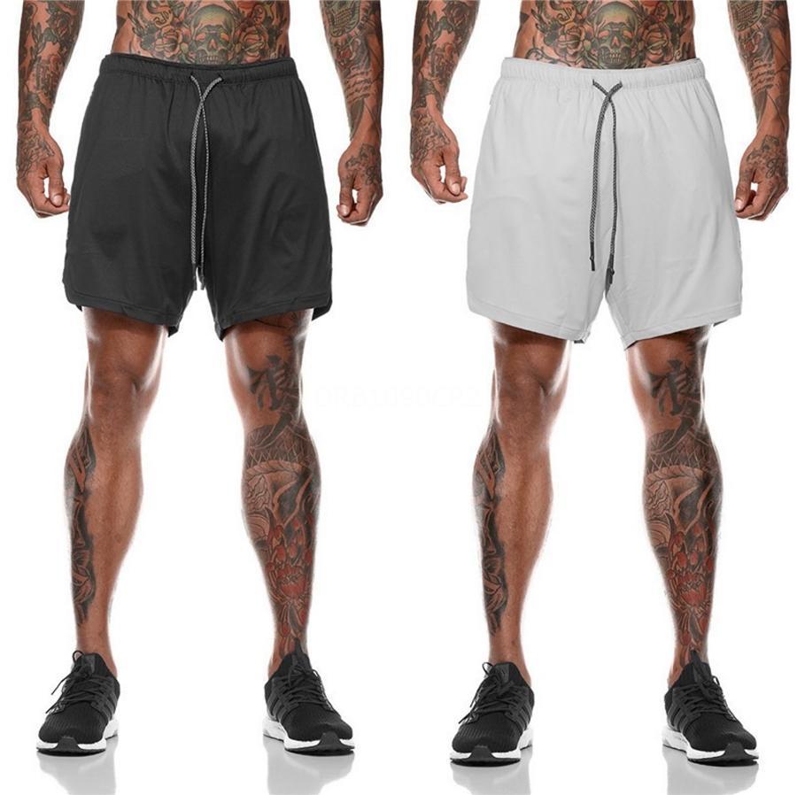 2020 nuovi Mens di compressione Shorts Short Line calzamaglia scarne Bodybuilding traspirante Man inferiore Pocket fitness Shorts # 211