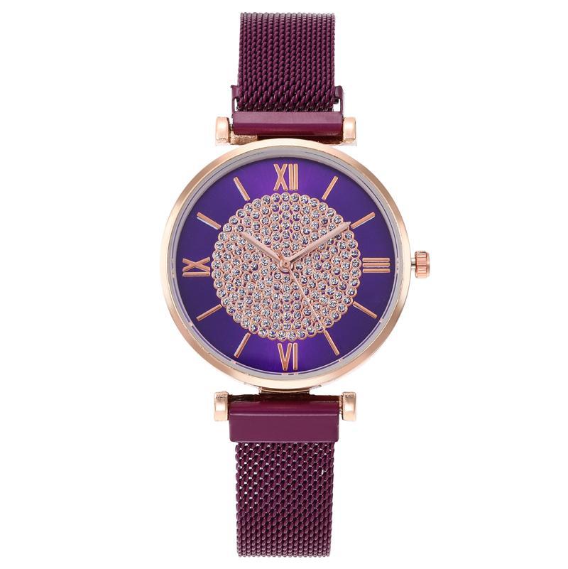 Интернет знаменитости звездное небо Рим часы женская мода Магнит сетки наручные часы повседневная девушки студент кварцевые часы Relogio Feminino