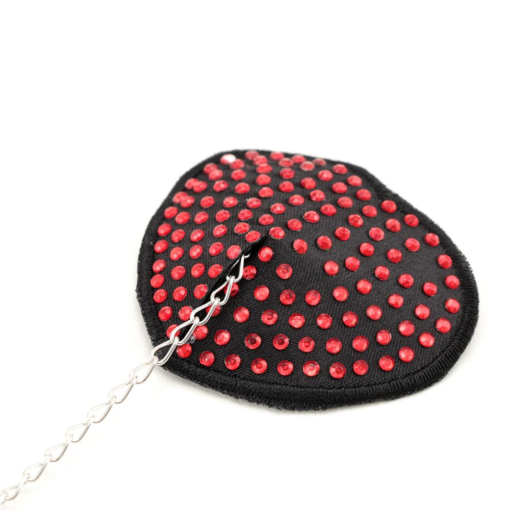 1 Pair Self Adhesive Sexy Nipple Cover Stickers Chest Pastie Breast Bras Rhinestone Nipple Cover With Chain
