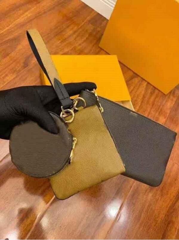 Mode Seriennummer Wallet Kartenhalter Taschen Münze Geldbörse Echtes Leder Brieftaschen Männer Frauen Schlüssel Geldbörse Original Box M68756 19.5x11.5x3cm