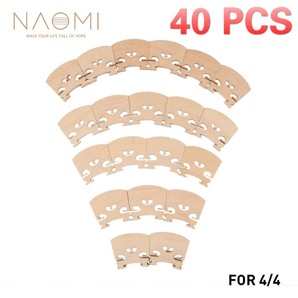 NAOMI 40PCS Violin Bridge 4/4 Maple Wood Violin Bridge For 4/4 Violin Musical Instrument Accessories High Quality New