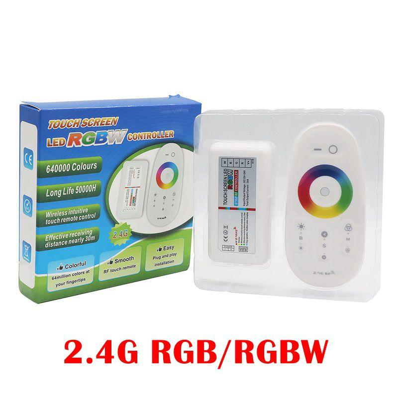 2.4G RGB RGBW LED Strip Controller Touch Screen Remote Control RF Wireless DC 12V-24V LED Driver