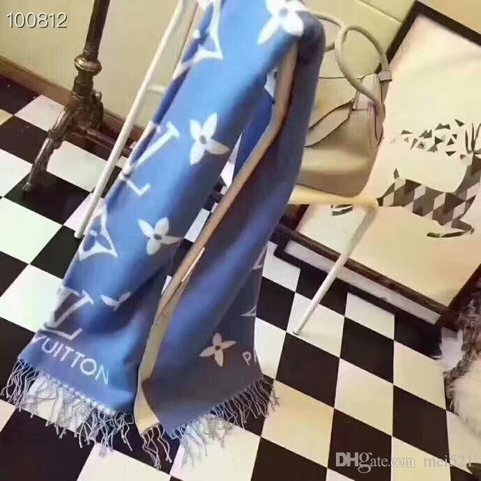 Delle donne all'ingrosso marchio classico sciarpa di cachemire Sciarpe marche sciarpa design di alta qualità sciarpa disegno del modello Lettera Fiore