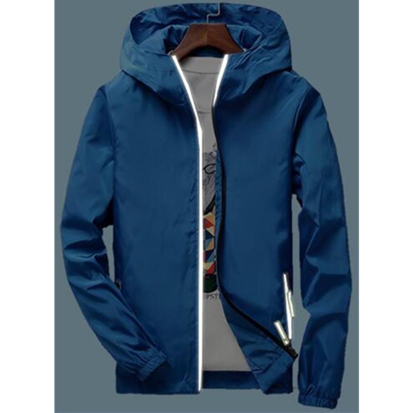Großhandel Reflektierende Jacke Windjacke Männer Frauen Jaqueta Masculina College Jacken Weiß Rot Blau Schwarz Grau Rosa Navy Orange Wasser Blau Von