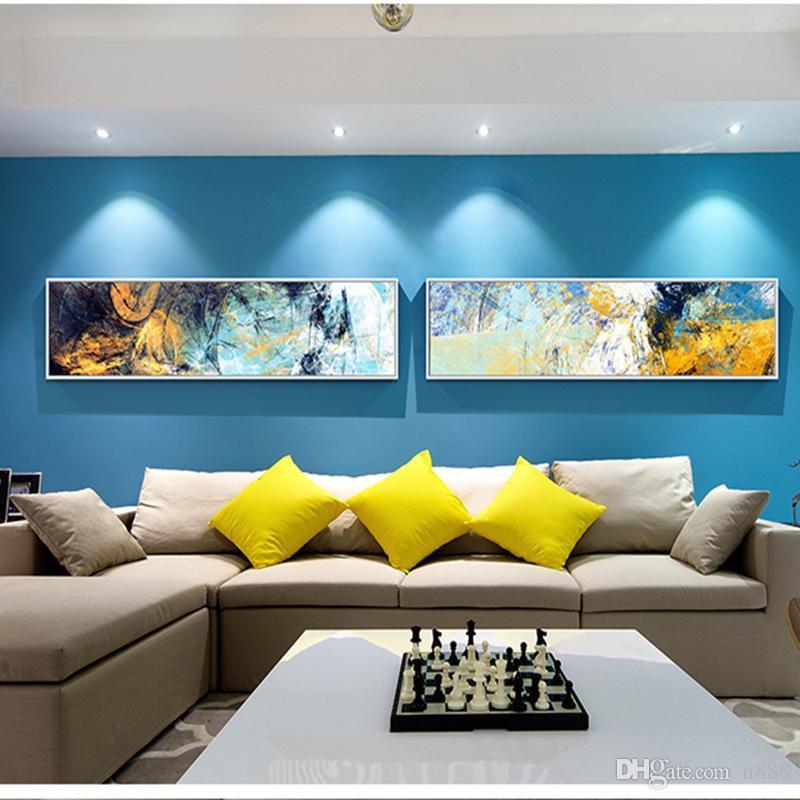 2 لوحة مجموعة 100٪ هاندبينتيد الحديثة مجردة جدار الفن النفط الطلاء عالية الجودة ديكور المنزل على قماش متعدد الأحجام ل قطعة واحدة l64