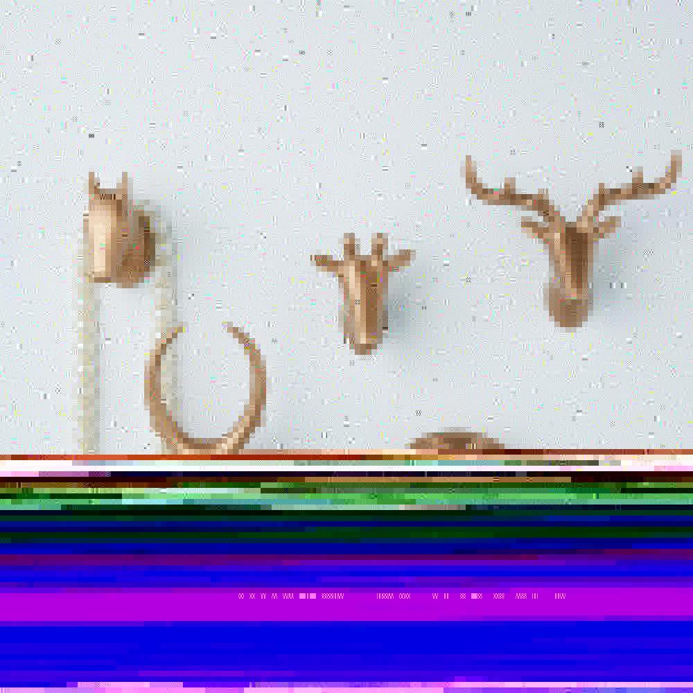 Creativo auto adhesivo gancho de la pared Cabeza de animal gancho para colgar la ropa sombrero de la bufanda ciervos clave cuernos estante de la suspensión decoración de la pared