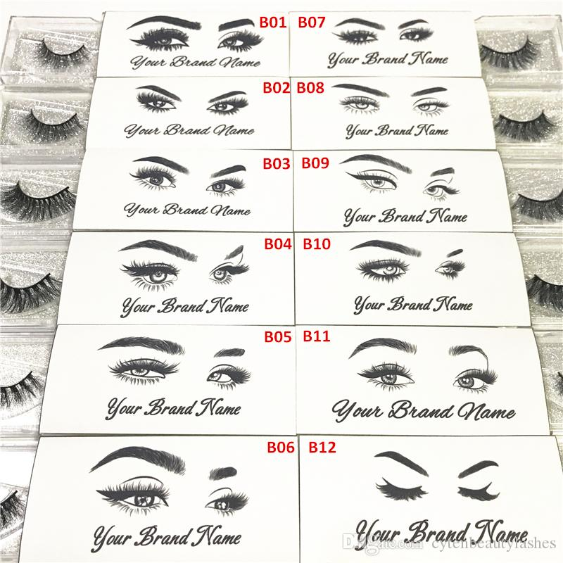 Private Sticker Logo For Eyelash Packaging Box Used For Mink Lashes Natural  3D Mink Eyelashes False Lashes Eyebrow Tint Eyelash Extension From