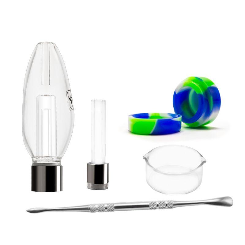 Dab Straw Kawumm Gift Box 510 Gewindeverbindung mit Titan-Nagel-Quarz-Nagel-keramischer Nagel Rauchen Dabber Werkzeug Glaswasserpfeife DHL