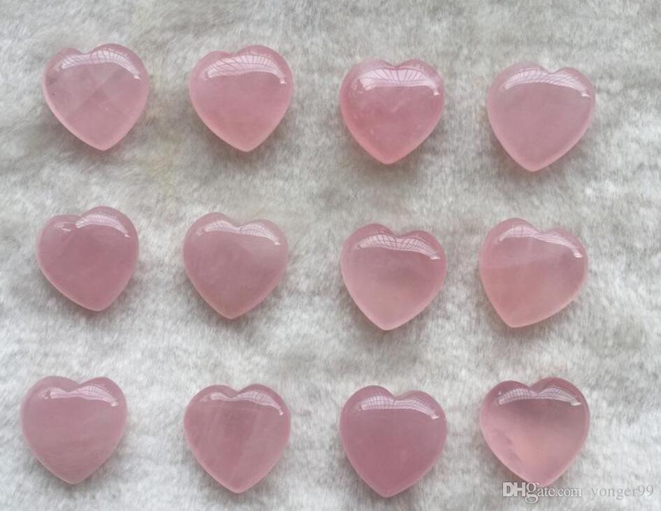 Natural Rose Quartz en forme de coeur en cristal rose Sculpté Palm amour Healing pierres précieuses amant gife Pierre cœur en cristal de DHL gratuit