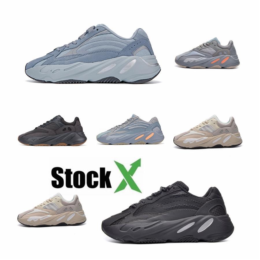 2020 Высокое качество Kanye West 700 Светоотражающие чужеродных Runner Тройной Белый Черный Клей Beluga Мужские кроссовки Женские кроссовки дизайнер # DSK602