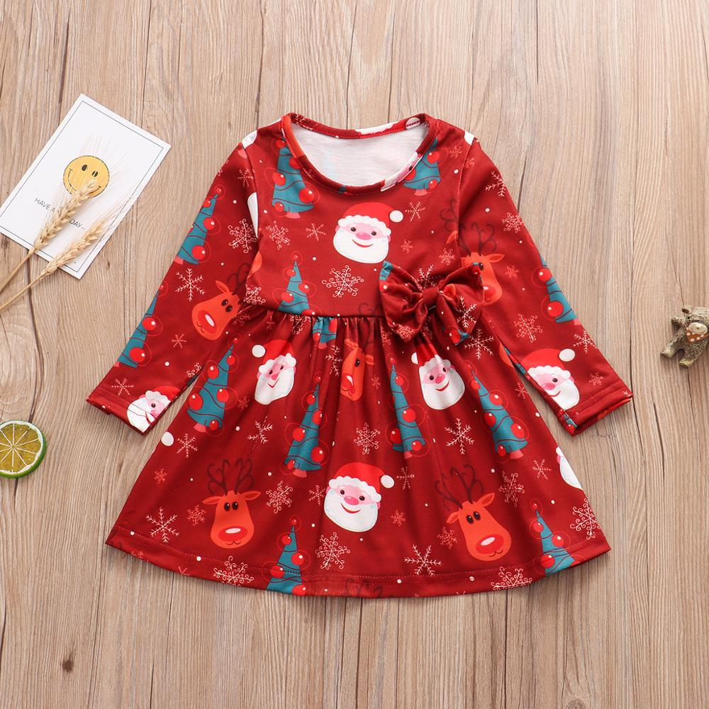 2020 Baby Girls Christmas Tree Santa Clothes Full Sleeve Toddlers