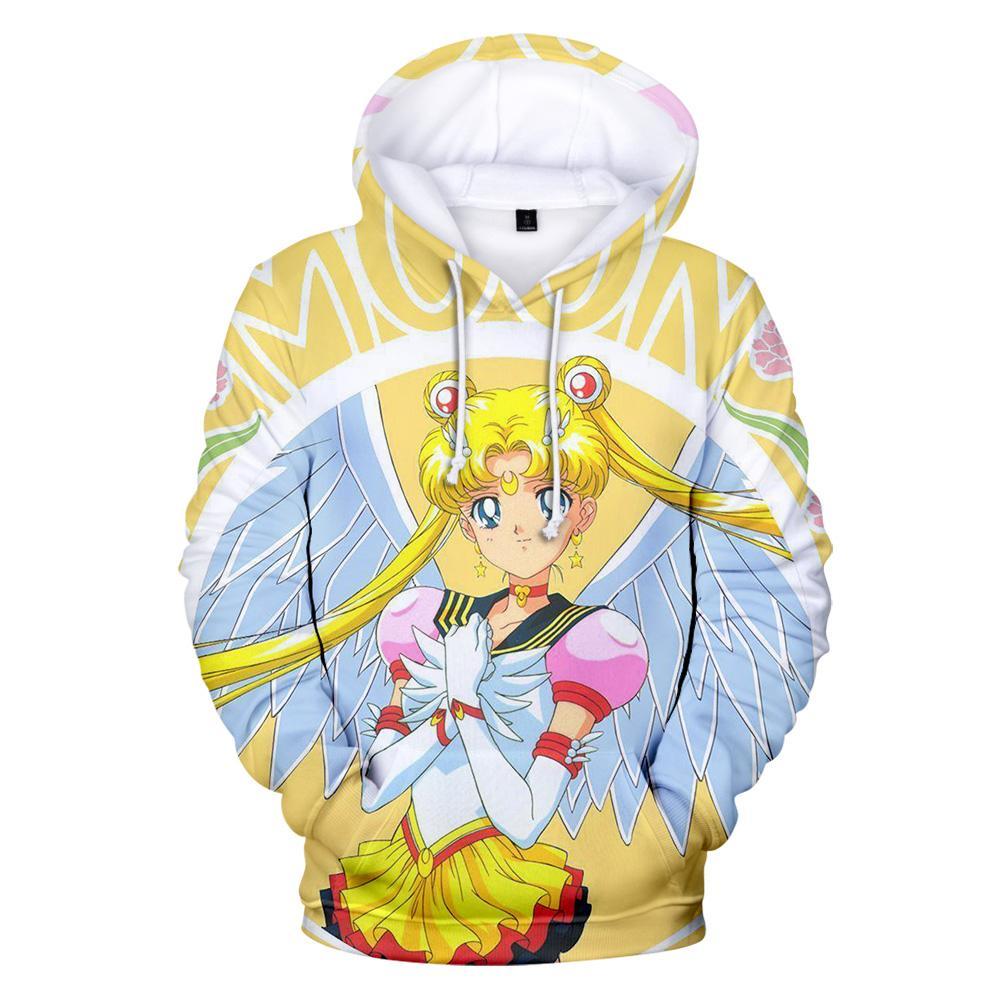 Aikooki New Sailor moon Hoodies 3D Homens / mulheres camisolas Moda Primavera / inverno Com Capuz Meninos / meninas Casuais Casaco Com Capuz Outwear Casaco 3D