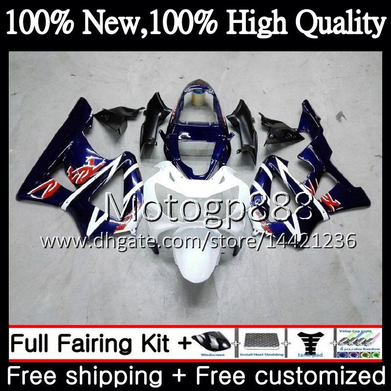 Body For HONDA CBR900 RR CBR 929RR CBR 900RR CBR929RR 00 01 54PG12 CBR 929 RR CBR900RR CBR929 RR Blue white 2000 2001 Fairing Bodywork