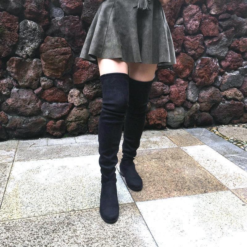 Flat Heel Over The Knee Boots For Women