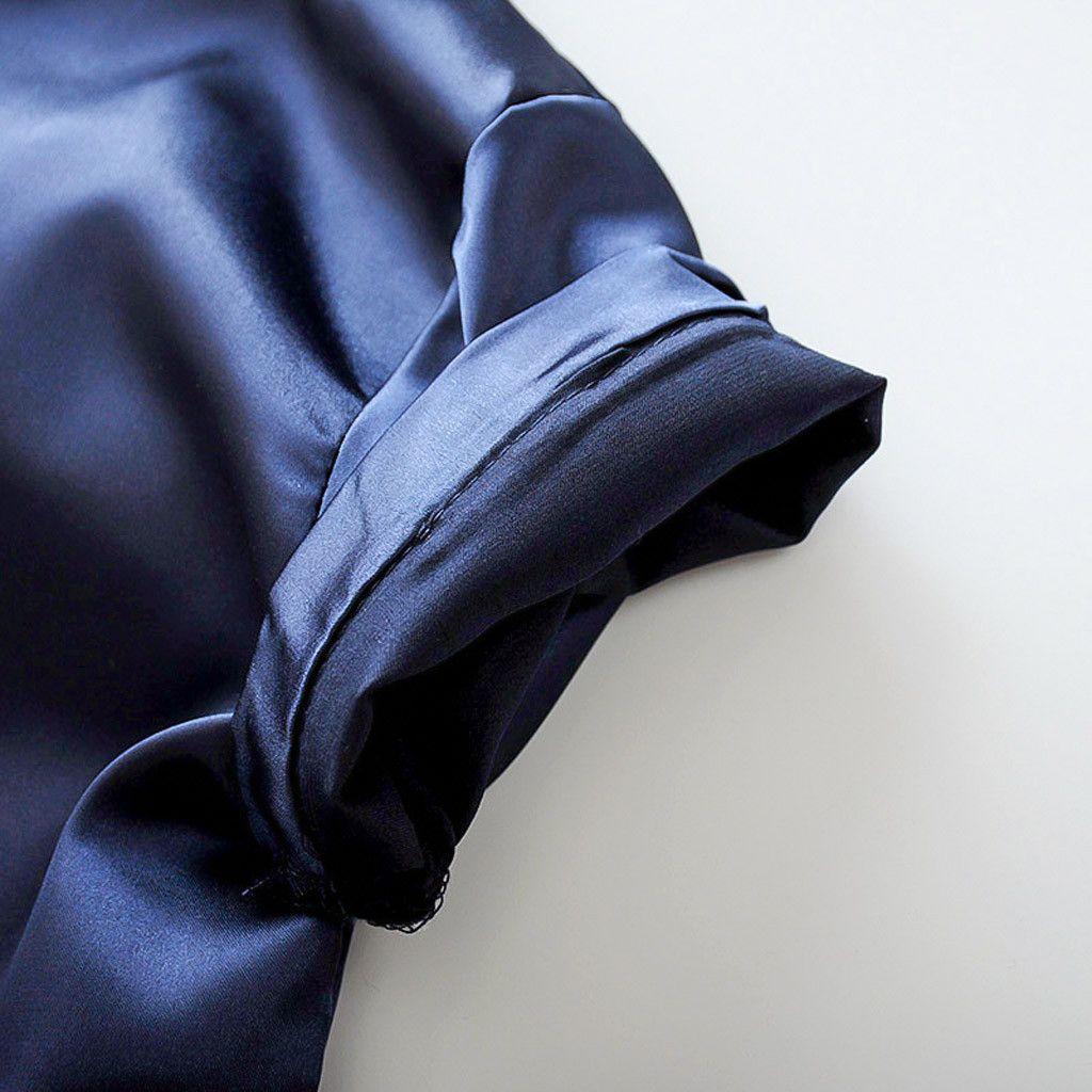 Bambino del bambino Estate pigiama di seta Sleepwear vestiti regolati vestiti dei ragazzi Ragazze Sleepwear T-shirt solido pantaloni vestiti dei bicchierini Set Wy4
