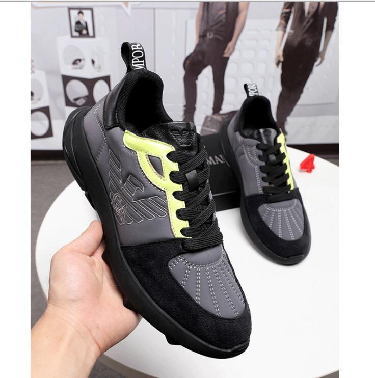 Chaussures de sport pour hommes automne et l'hiver nouveau plus bas dentelle haut des chaussures casual hommes à la mode lumière chaussures de course size38-44