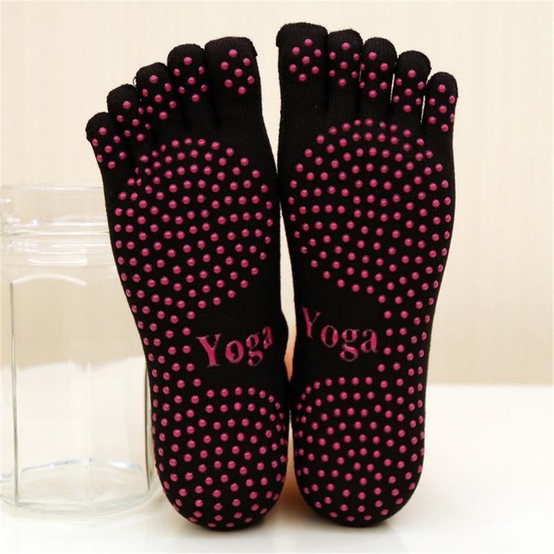 Nouveau dames Yoga Socks Five Finger Danse Ballet Gym Fitness Sports chaussettes en coton Fun Chaussettes respirantes