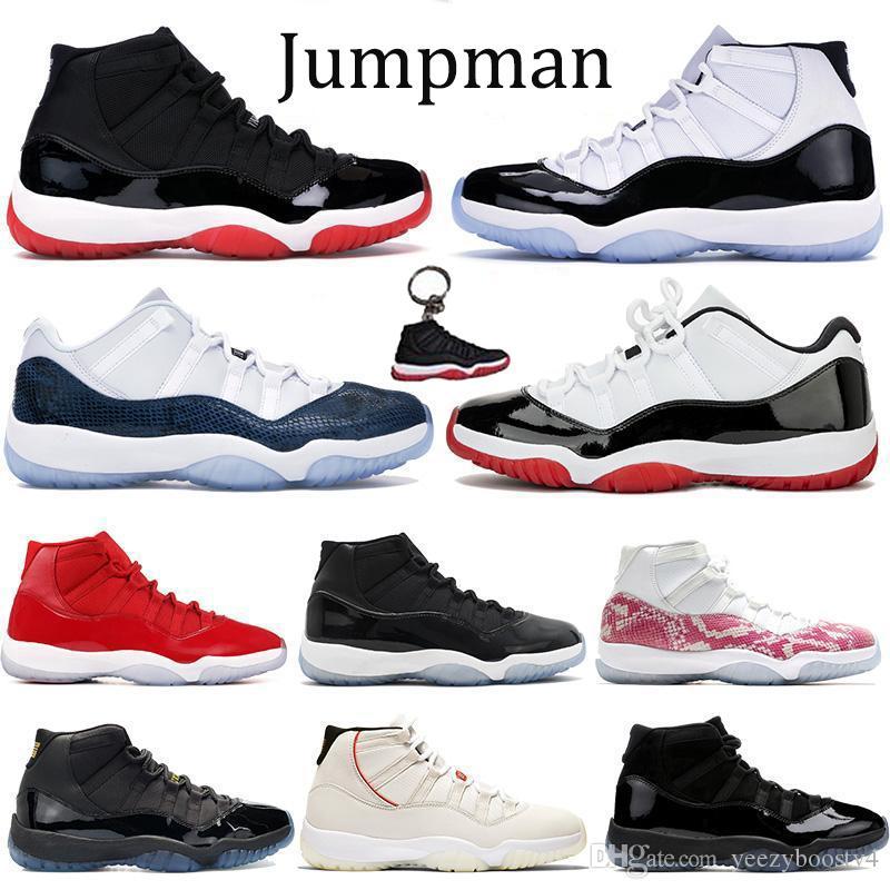 Yeni 11'ler XI Jumpman Basketbol Ayakkabı Yüksek Concord 45 uzay sıkışması Erkekler Kadınlar Sneakers Sport Ayakkabı Düşük Yılan Donanma Eğitmenler yetiştirilen