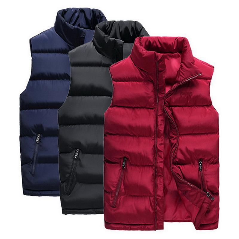 Laamei Zipper-up Giù maglia del cotone autunno ed inverno Nuova Warm Classic Solid Colore Leggero Outdoor maglia della soffiatore del 6XL