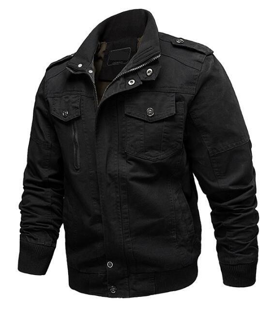chaqueta cazadoras de vuelo del ejército abrigos de algodón 6XL envío de la gota de los hombres de la chaqueta de cremallera táctica 2020 nueva ropa casual