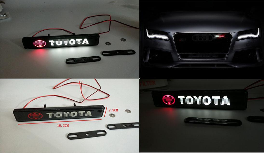 Автомобиль переднего бампера решетка AUTO эмблема Люминесцентного знак Наклейка для Toyota LED Light