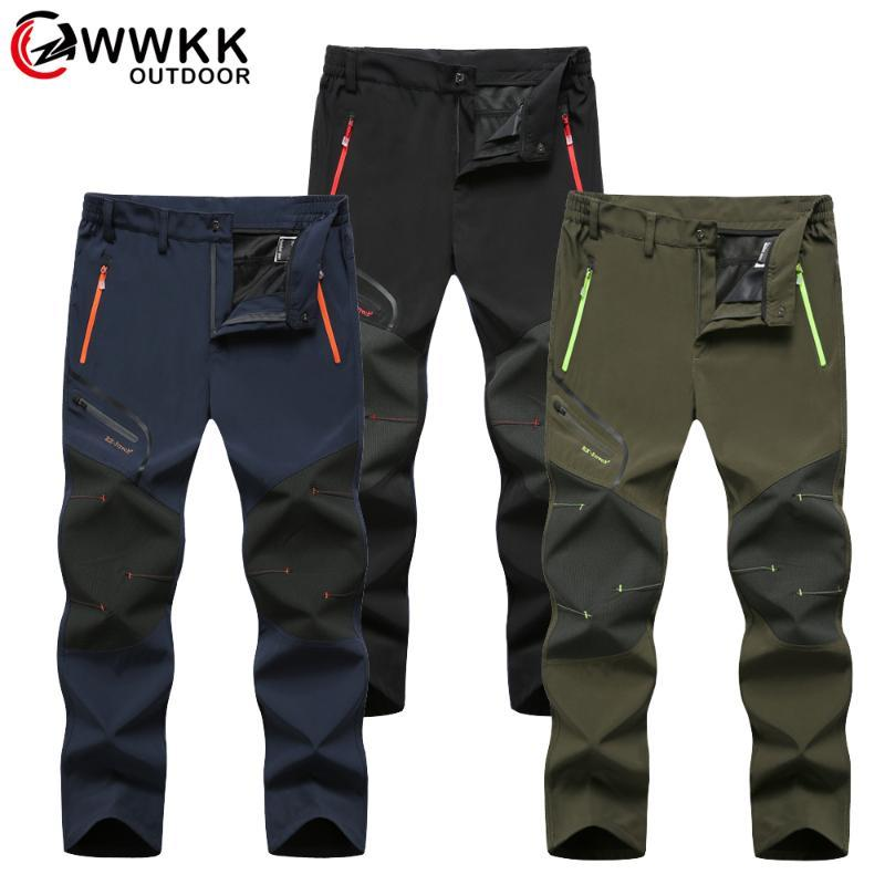 Pantalons de randonnée imperméables hommes Softshell Pêche Camping Montez Pantalon tactique Ski Stay Summer Hiver Respirant Pant en plein air