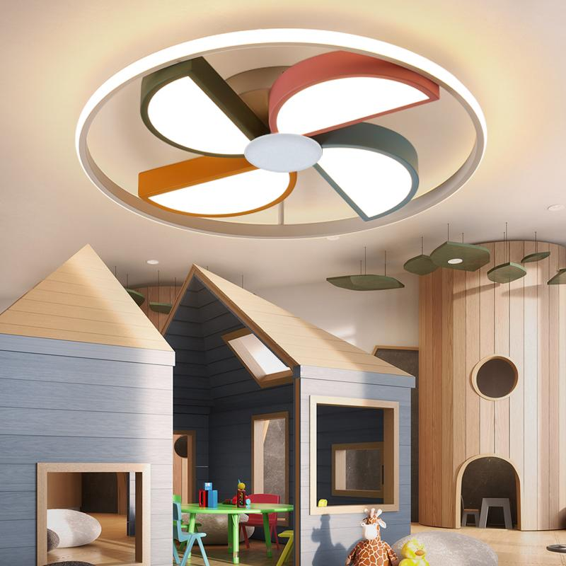 Moderne LED-Deckenleuchte Kinder Babyraum runde Windmühle Lichter für Kindraum-Schlafzimmer Junge Mädchen Hauptdeckenleuchte Beleuchtung