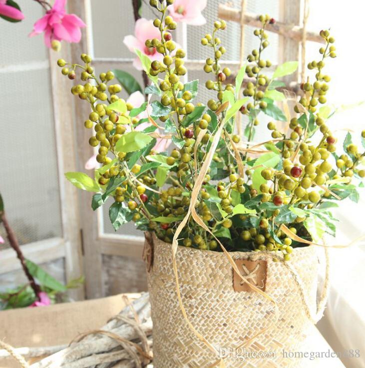home decoration wedding simulation fruit branch small fresh artificial flower fake flower vase flower arrangement factory wholesale