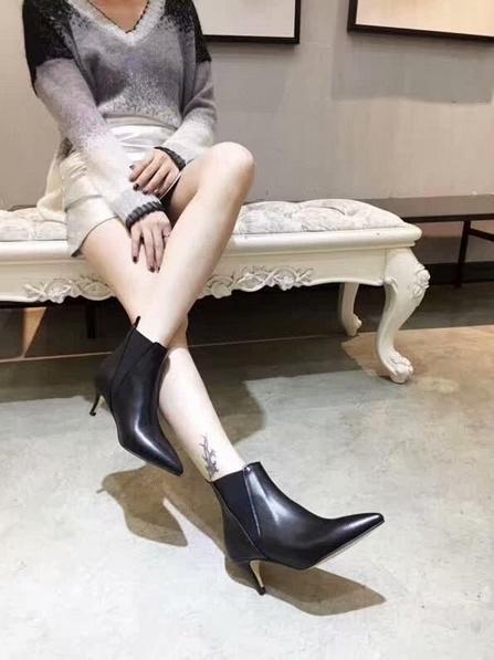 venta de los zapatos de diseñador-caliente, la cara de cuero de corte de cuchilla botas puntiagudas más de moda italiana, zapatos de moda estilete resistentes al desgaste del talón los 5.5CM