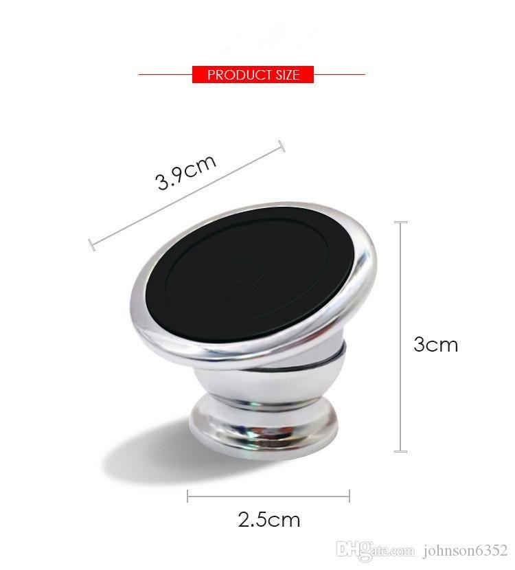 Meilleure qualité Smart Smart Smart Smart Teapluet de téléphone Magnet 360 degrés Titulaire de téléphone magnétique Porte-Téléphone Porte-voiture Navigation de voiture