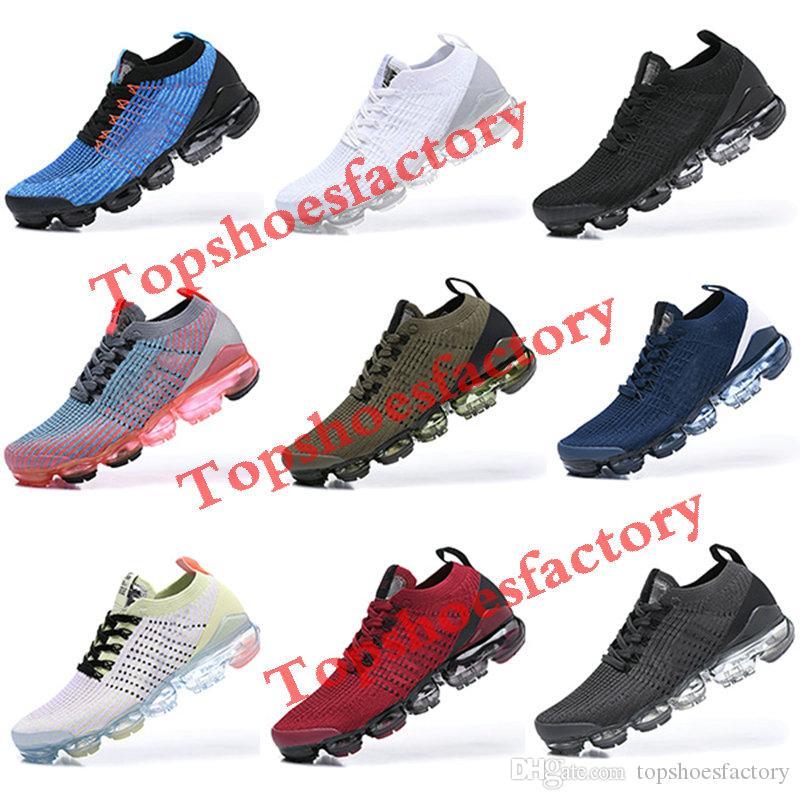 Black Multi Color Knit 2.0 Running Shoes 2018 2019 Safari Pure Platinum Men Women breathable Sneakers Triple Black Men Designer Shoes