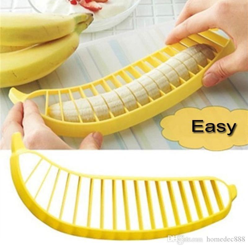 Banana Slicer Creative Home Kitchen Tool Fruit Vegetable Peeler Salad Slicer Cutter Kitchen Tools DIY Fruit Salad Slicer DH0405