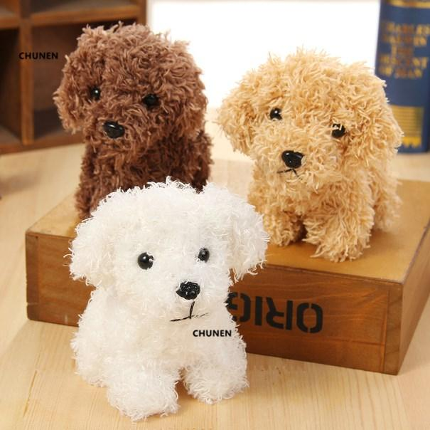 Size 9*8CM , fluffy dog toy , 3Colors - gift dog Plush doll , little keychain stuffed toy