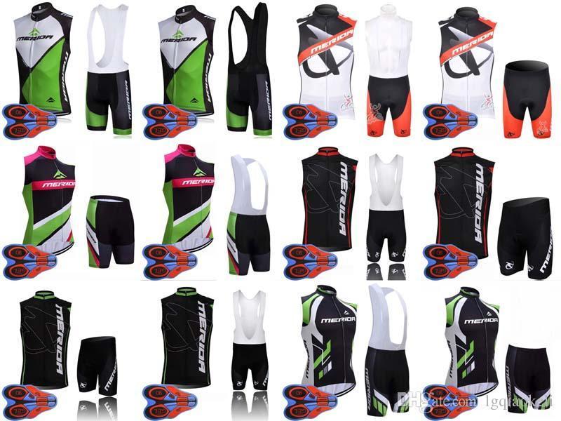 2020 Merida Bisiklet Kolsuz Forması 9D Jel Pad Önlükler Şort Ropa Ciclismo Pro Bisiklet Giyim Erkek Yaz Bisiklet Maillot Suit C629-38