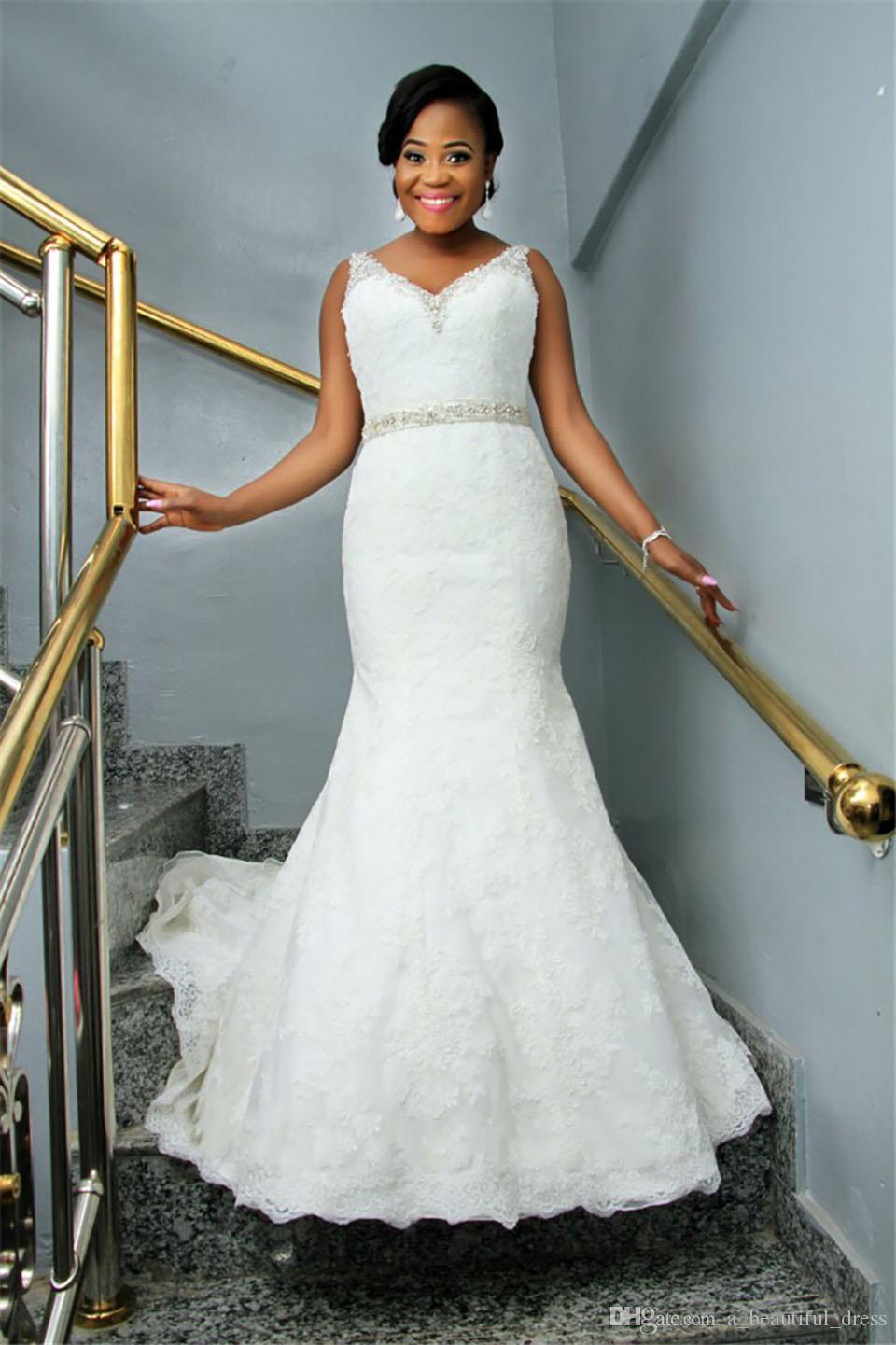 Vestido de Nooiva романтические кружева Mermiade свадебное платье халат де Марии роскошные бусы кристаллы свадебные платья