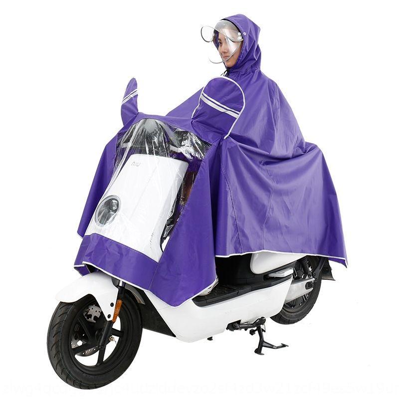 fUJLC Double raincoat single poncho car motorcycle battery car tram transparent Motorcycle electric vehicle electric vehicle thick men and w