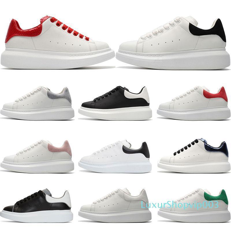 2019 Mens Designer Schuhe aus weißem Leder 3M Reflex lässig für Mädchen Frauen schwarz gold rot Art und Weise bequeme flache Sport-Turnschuhgröße 35-44