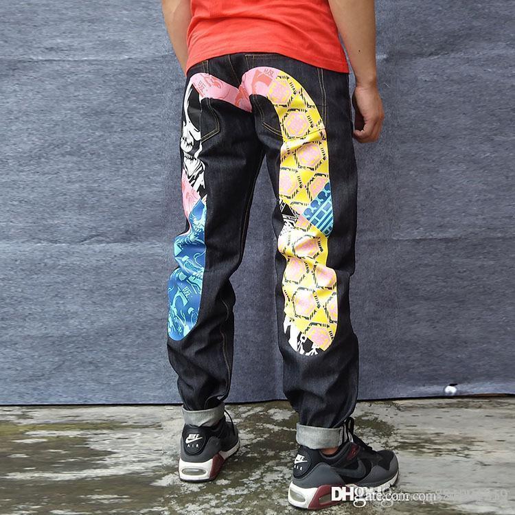 2019 New Straight Mens Jeans Sweatpants Joggers Track Sweat Pants Sport Long Trousers Desinger Jeans Fashion Hip Hop Plus Size 28-40