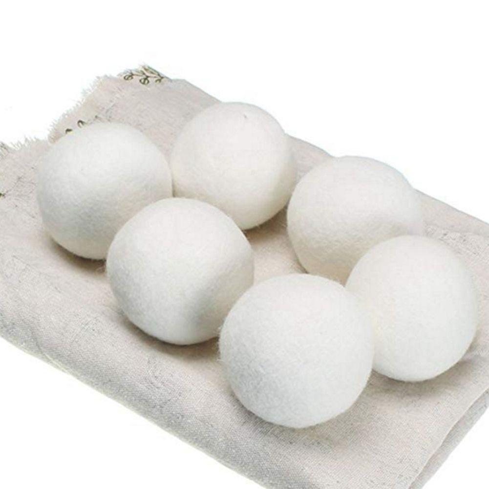 100pcs Lã Secador Balls 7 centímetros de lã Secador Balls premium reutilizável Natural Amaciante 2,75 polegadas estática Reduz Ajuda roupas secas em Lavandaria